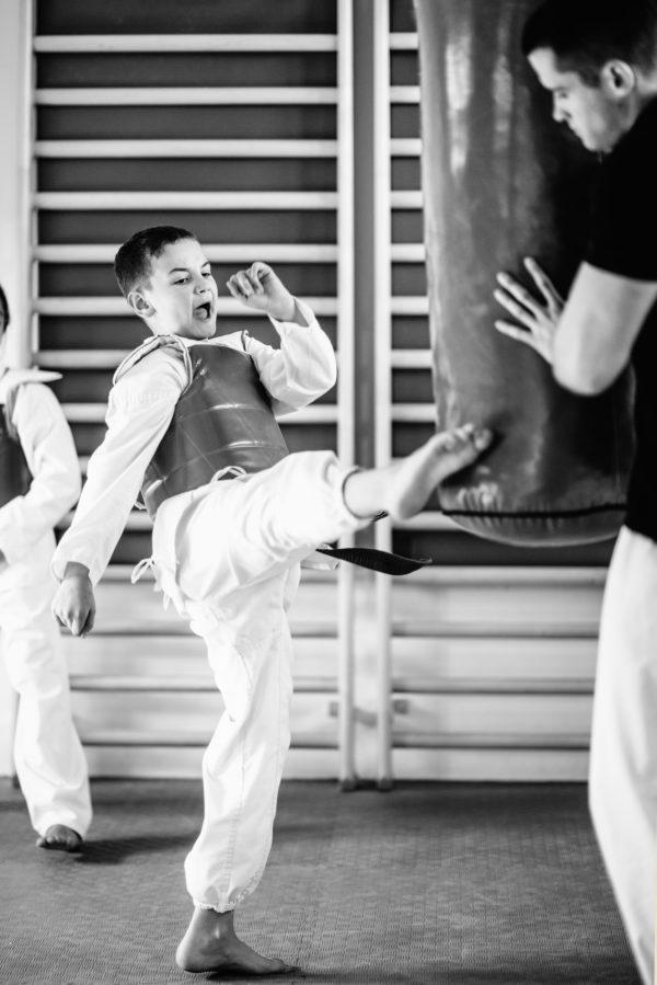 Taekwondo kids sparing